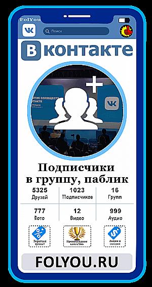 Накртука Вконтакте Подписчики в группу, паблик (VK.com Group Followers)