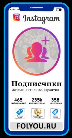 Накртука Instagram Подписчики (Followers)