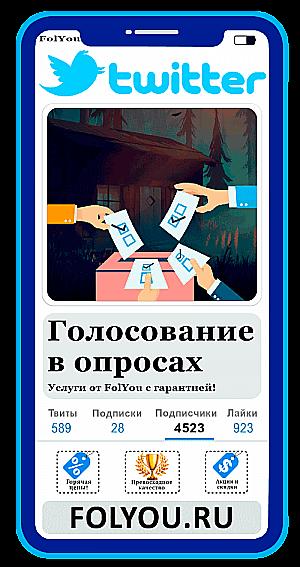 Накртука Twitter Голосования в опросах (Poll Votes)